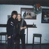 David and Michael Angelo Batio backstage at a DSG show in early 2004.