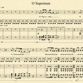 sheet music for O Superman by Laurie Anderson