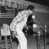 Abner Jay on stage at the 1977 Florida Folk Festival