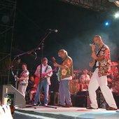 Jonathan Clark playing in Hawaii with Joe Walsh