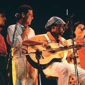 Milton Nascimento, Mercedes Sosa, Caetano Veloso e Chico Buarque