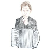plays philip glass on accordion