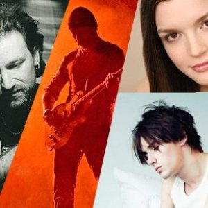 Image for 'Bono, The Edge, Jennifer Damiano & Reeve Carney'