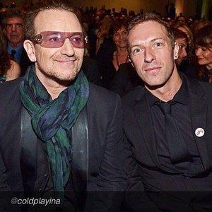 Imagen de 'Bono, Edge, Chris Martin (Coldplay) & Brian Eno'