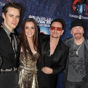 Image for 'Bono, Jennifer Damiano, Reeve Carney & The Edge'