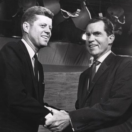 a comparison between the political careers of john f kennedy and richard nixon John f kennedy lyndon b johnson richard nixon: impact and legacy they make his presidency an object lesson in the difference between image and reality.